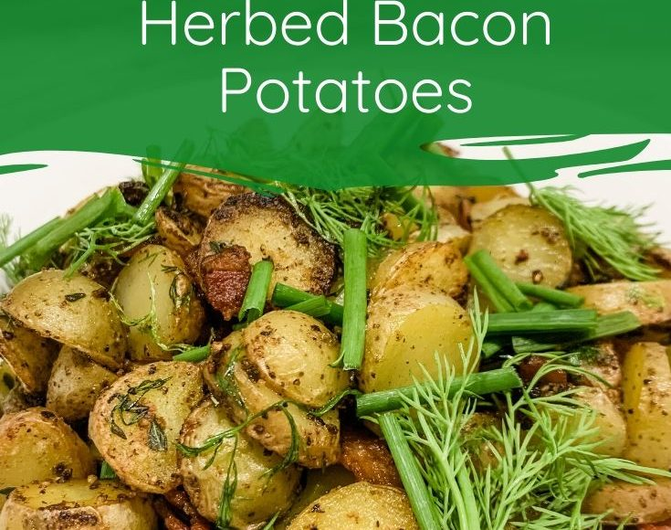Herbed bacon pan fried potatoes