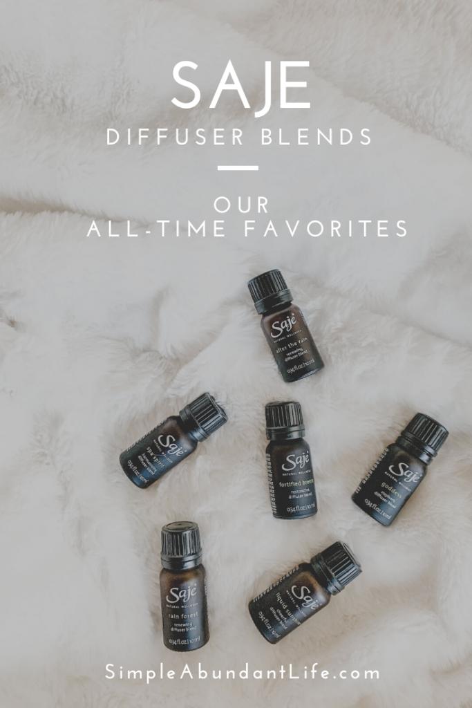 Favorite Essential Oil Diffuser Blends